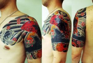 miyawaki tattoo cover up japanese carp