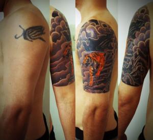 miyawaki tattoo cover up japanese tiger