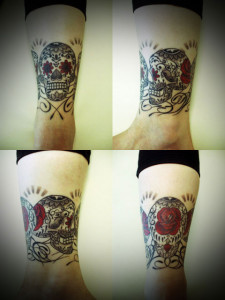 miyawaki tattoo mexico suger skull rose