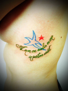 miyawaki tattoo one point blue bird