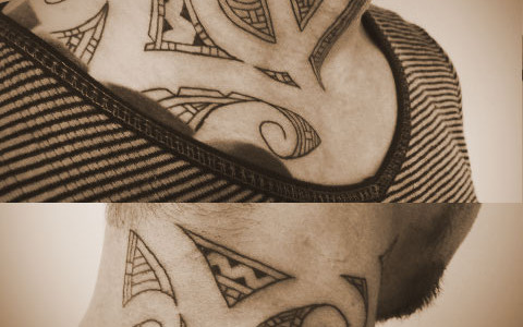miyawaki tattoo polynesian neck nz