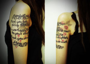 miyawaki tattoo letters sakura