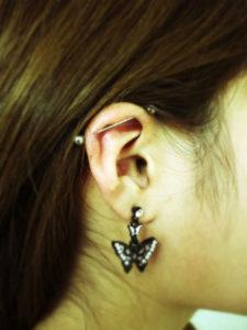 miyawaki body piercing industrial ear loob