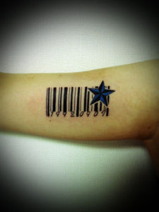 miyawaki tattoo barcord nautical star