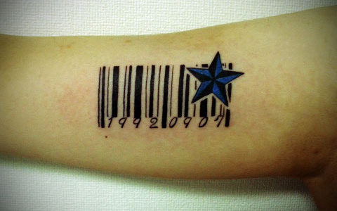 miyawaki tattoo barcord nautical star