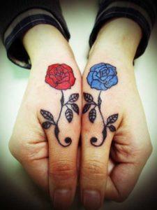 miyawakitattoo finger rose