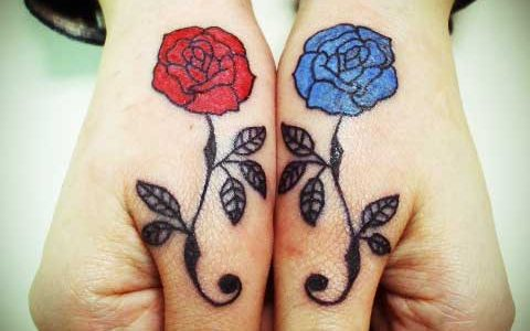 miyawakitattoo finger rose
