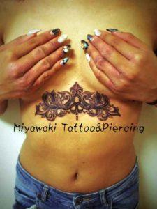 miyawaki tattoo chest palmet