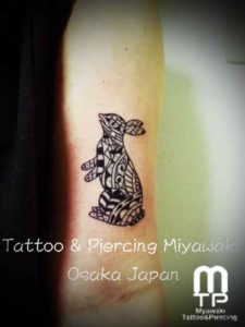 miyawaki tattoo one point rabbit
