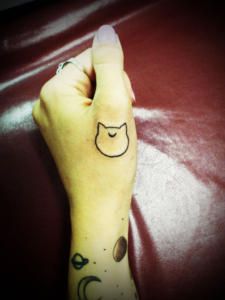 miyawakitattoo-france-one-point-cat-face001