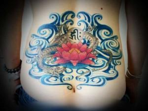 miyawakitattoo-lower-back-blue-wave-dragon-lotus001